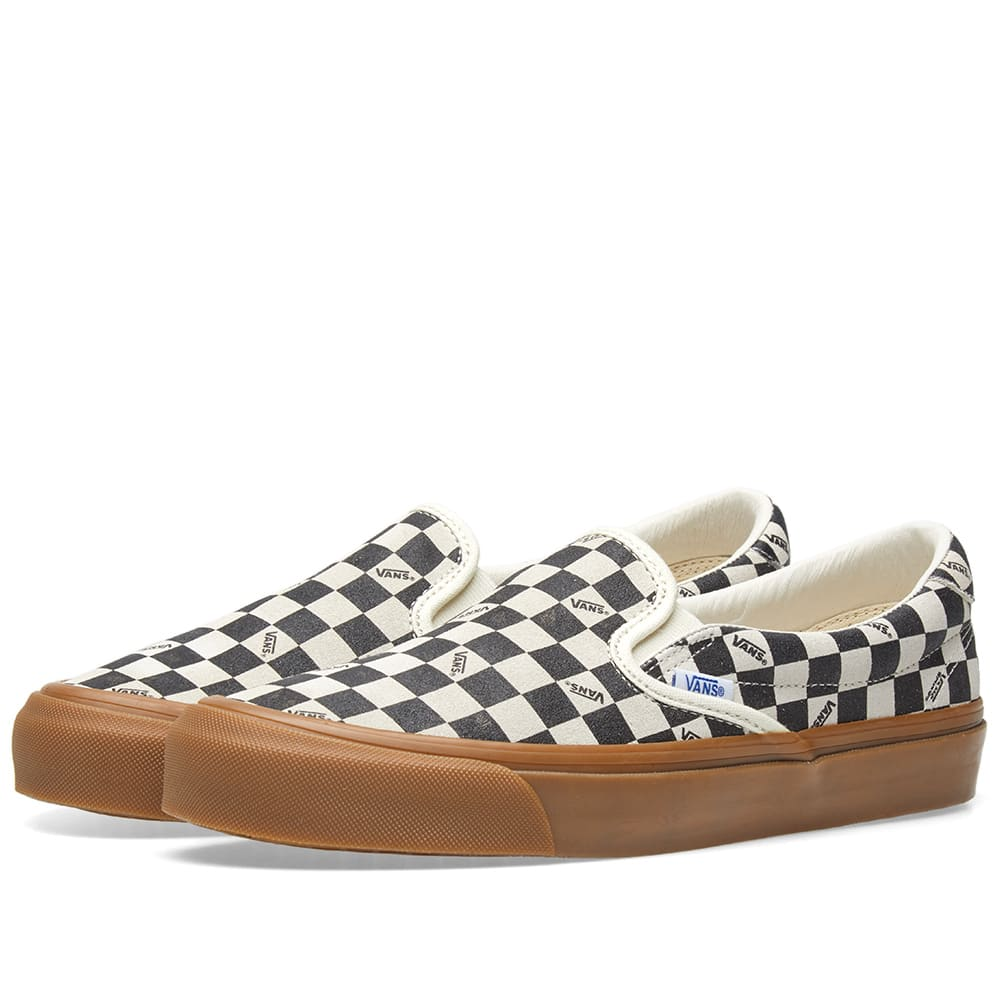 9f998ff7688060 Vans Vault OG Slip On 59 LX Checkerboard   Light Gum