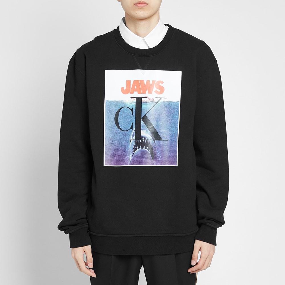89e86c8cffe Calvin Klein 205W39NYC JAWS Crew Sweat Black