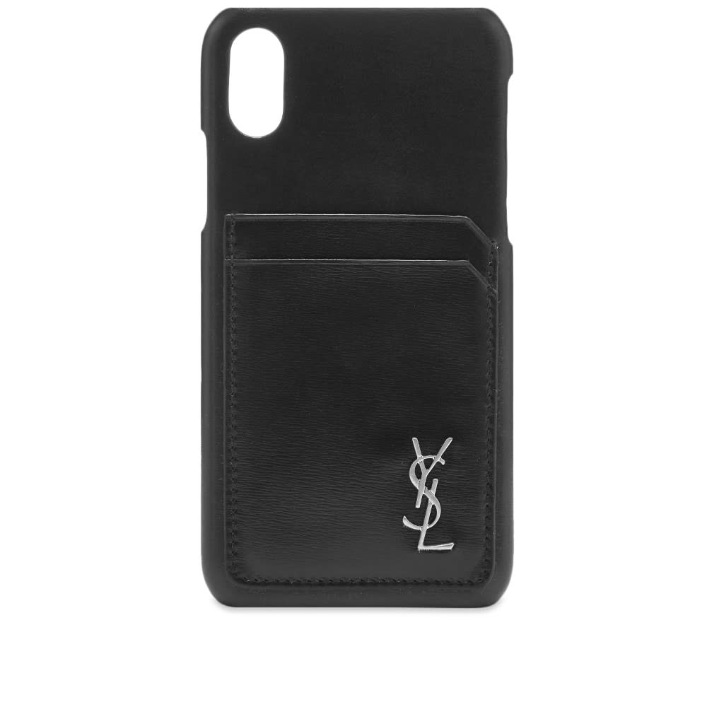 check out a975f 2d3f6 Saint Laurent Smooth Leather iPhone X Case