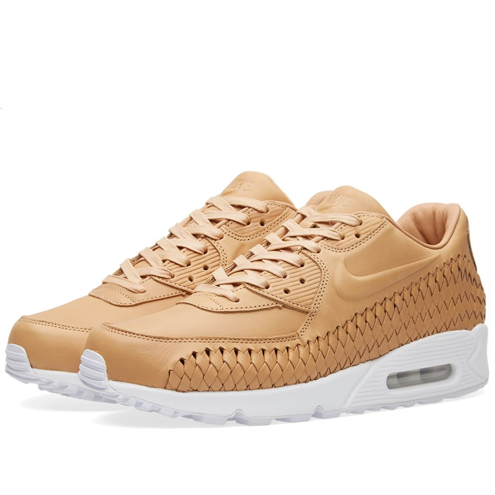 2018 Good Cheap Nike Air Max 90 Woven Vachetta TanWhite