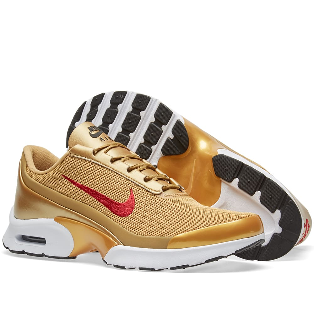 navegador banda parrilla  Nike W Air Max Jewell QS Metallic Gold & Varisty Red | END.