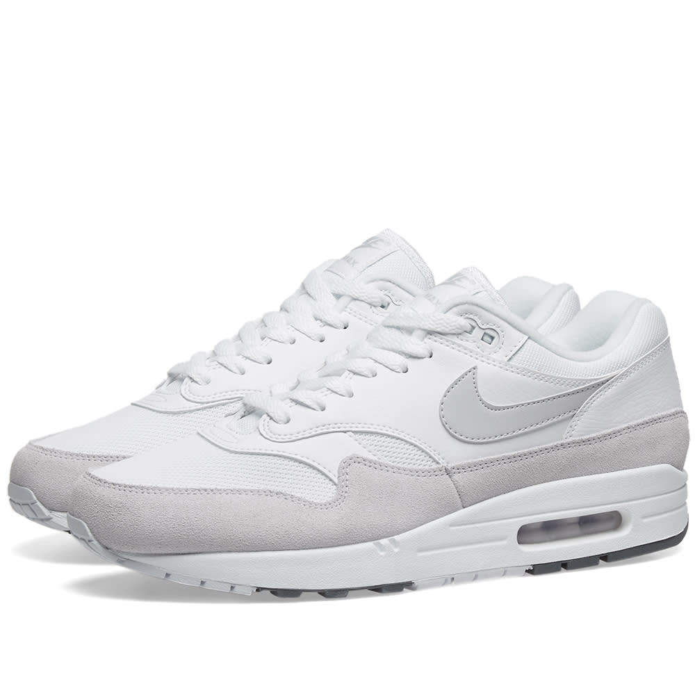 half off ef784 7421c Nike Air Max 1 White, Pure Platinum   Grey   END.