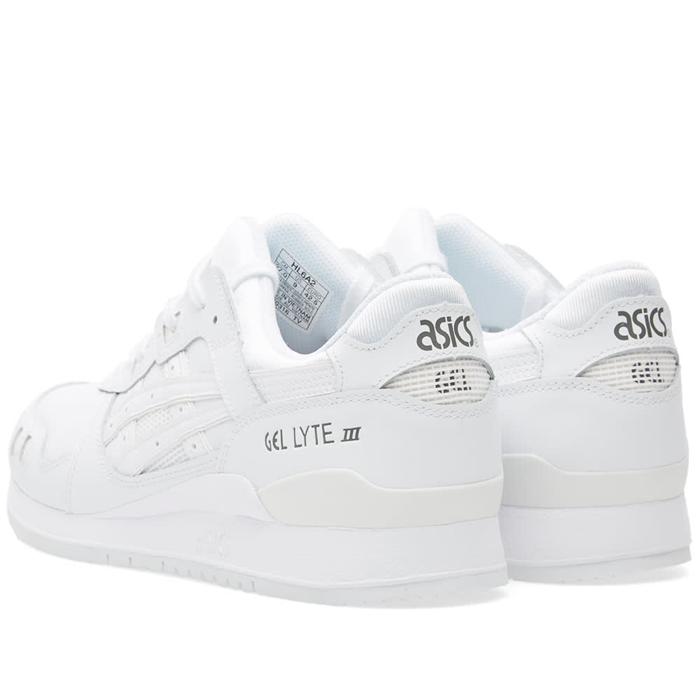 Guante Amasar Con qué frecuencia  Asics Gel Lyte III Triple White Leather | END.