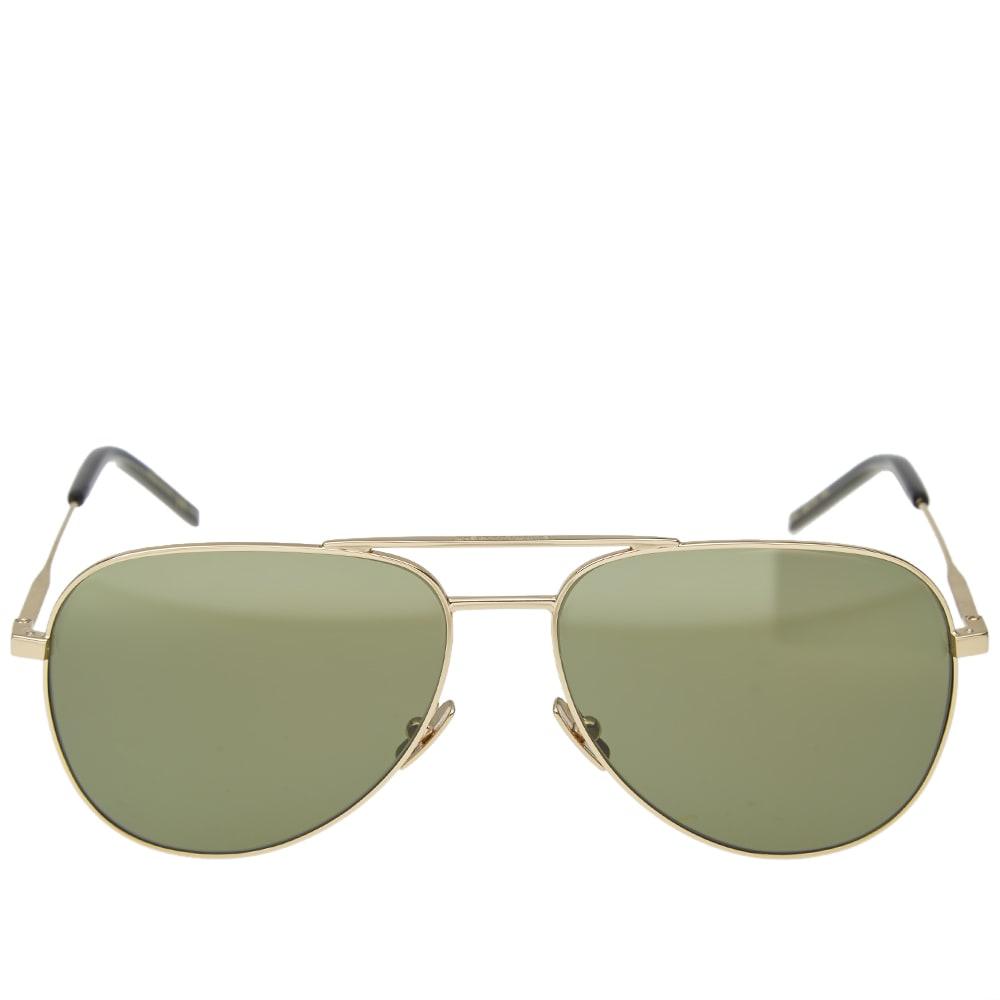 0adb172b4d202 Saint Laurent Classic 11 Sunglasses Gold   Green