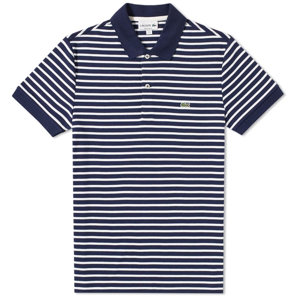 niższa cena z najlepiej sprzedający się delikatne kolory Lacoste Regular Fit Stripe Polo