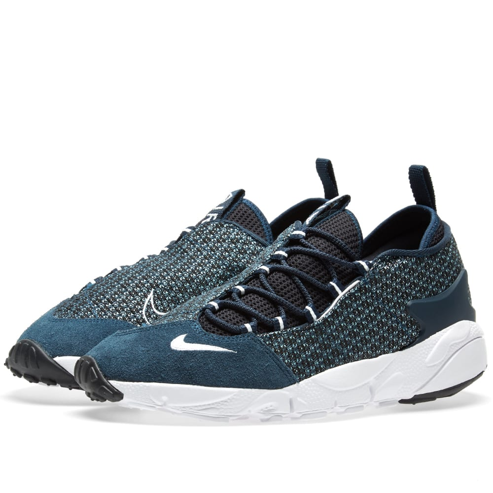 new product 09e6c cc2af Nike Air Footscape NM Jacquard Still Blue, White   Navy   END.