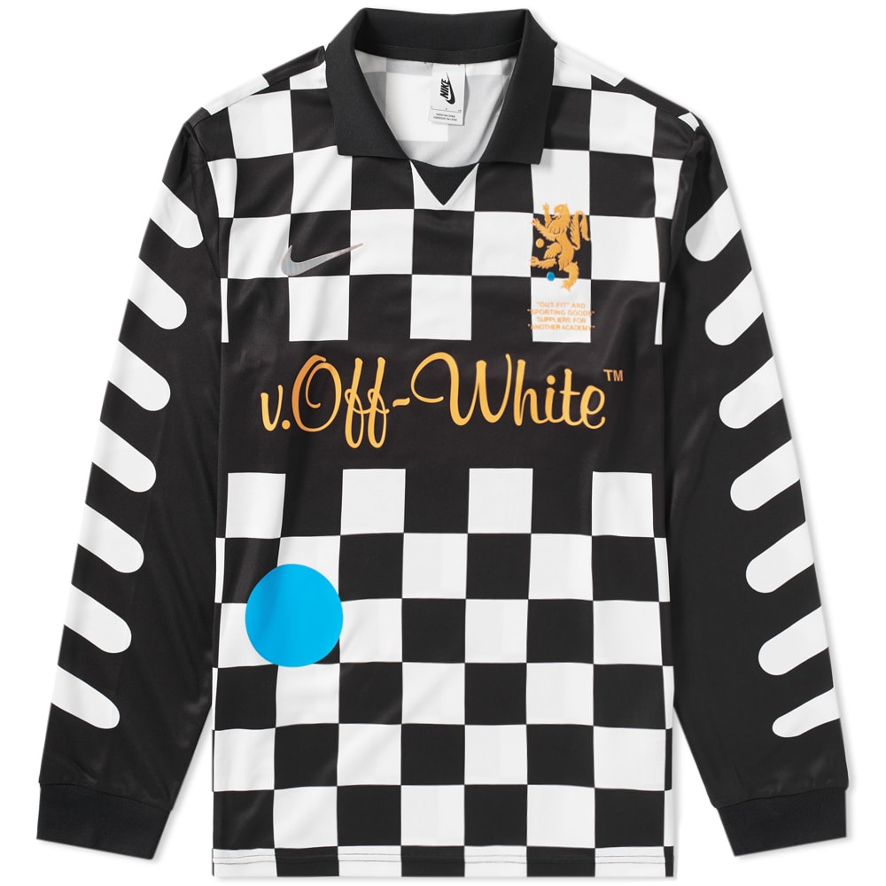 fb238a8dd Nike x Off-White Football Away Jersey Black   Total Orange