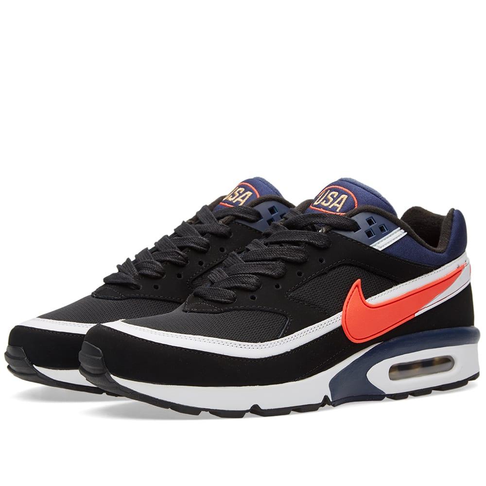 07e6497e42 Nike Air Max BW Premium Black, Crimson & Midnight Navy | END.