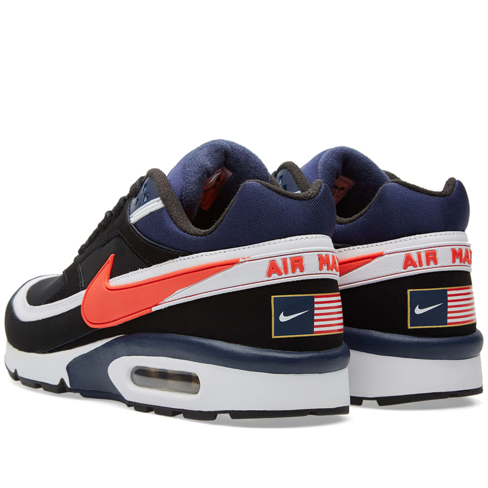 newest 9329b 33643 Nike Air Max BW Premium Black, Crimson   Midnight Navy   END.