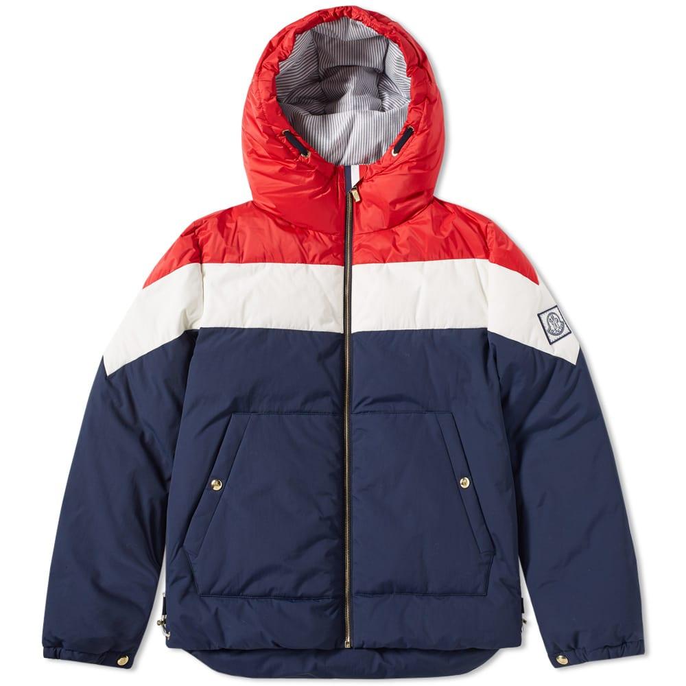 3302709c1 Moncler Gamme Bleu Chevron Hooded Down Jacket