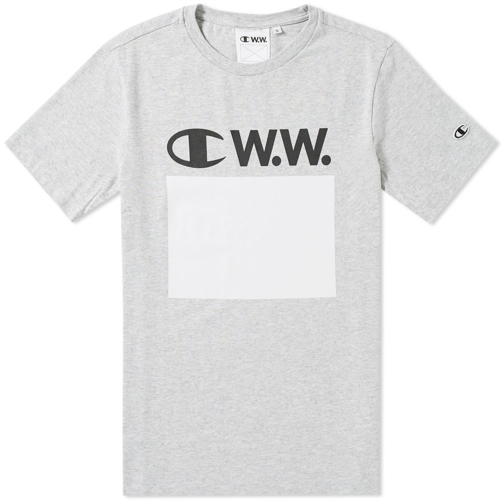 wood wood x champion t shirt