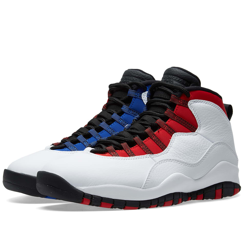 premium selection 65796 d7249 Air Jordan 10 Retro White, Black, Red   Royal   END.