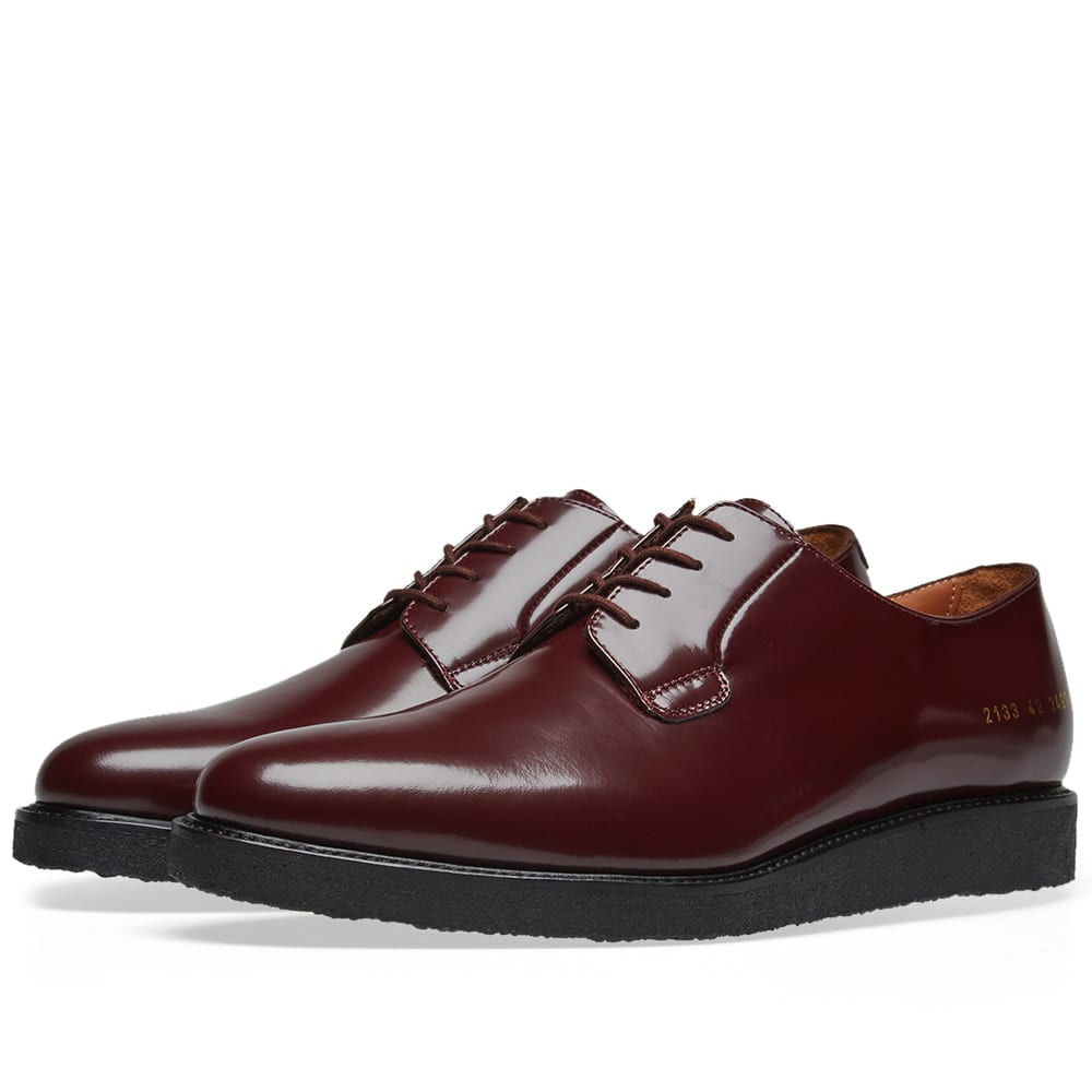 COMMON PROJECTS Plain Toe Derby in Burgundy
