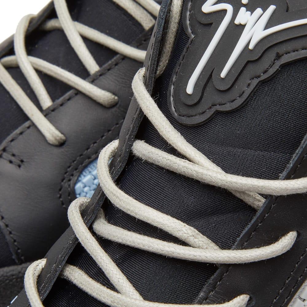 78046764347 Giuseppe Zanotti Double Zip Deconstructed Mid Sneaker In Black ...