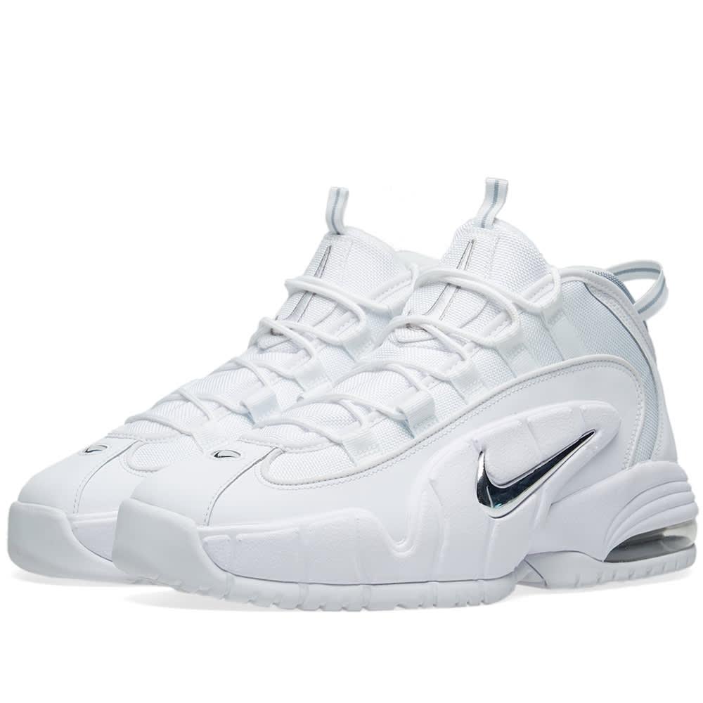 amanecer Validación fondo de pantalla  Nike Air Max Penny White & Metallic Silver | END.