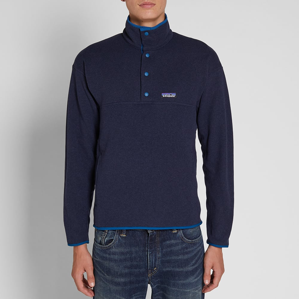 eadc723d9800d2 Patagonia Lightweight Better Sweater Marsupial Pullover Navy Blue | END.