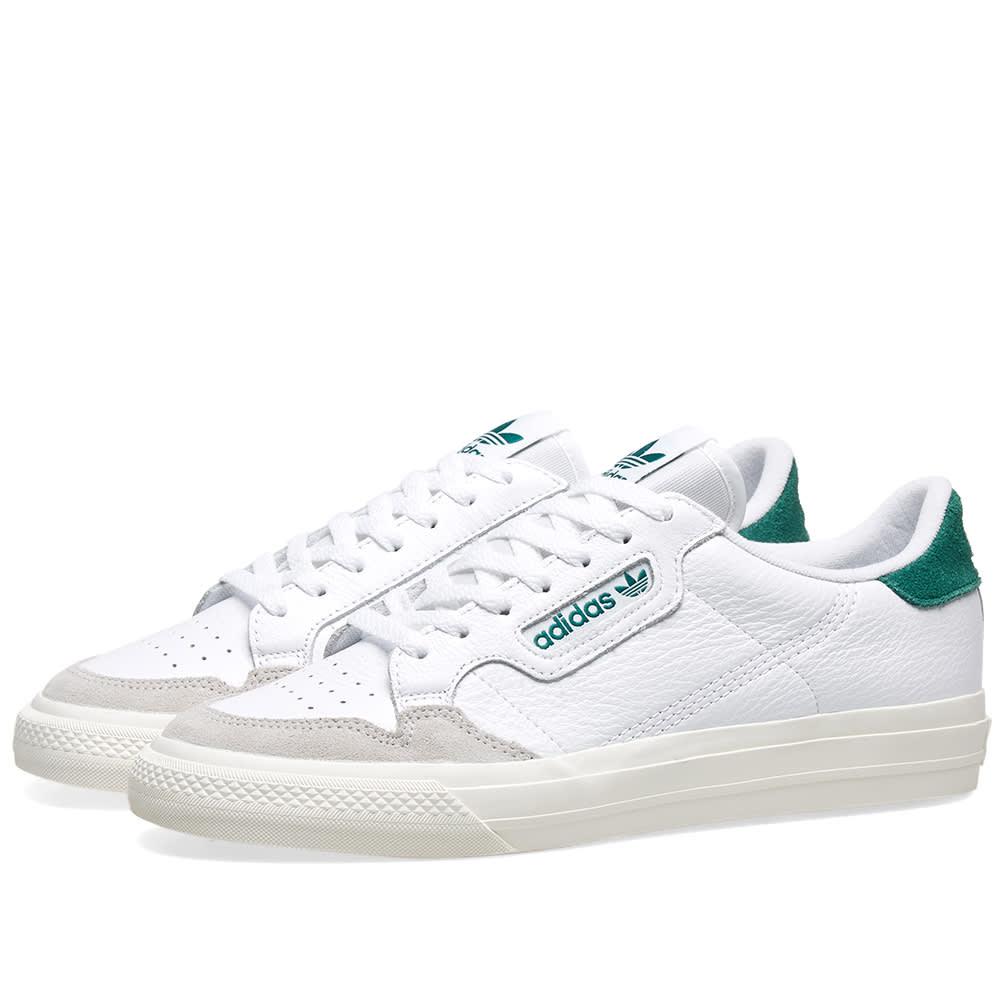 adecuado para hombres/mujeres gran inventario mejor proveedor Adidas Continental 80 Vulc White & Green | END.