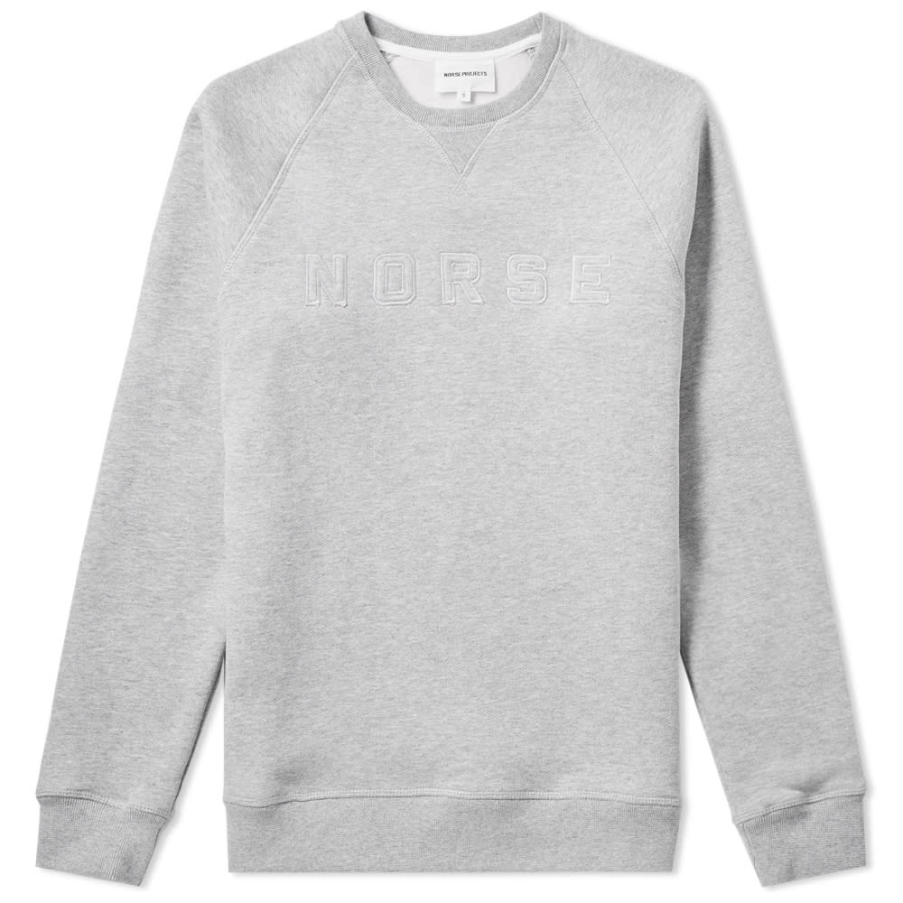 b506059ab69 Norse Projects Ketel Logo Crew Sweat Light Grey Heather | END.