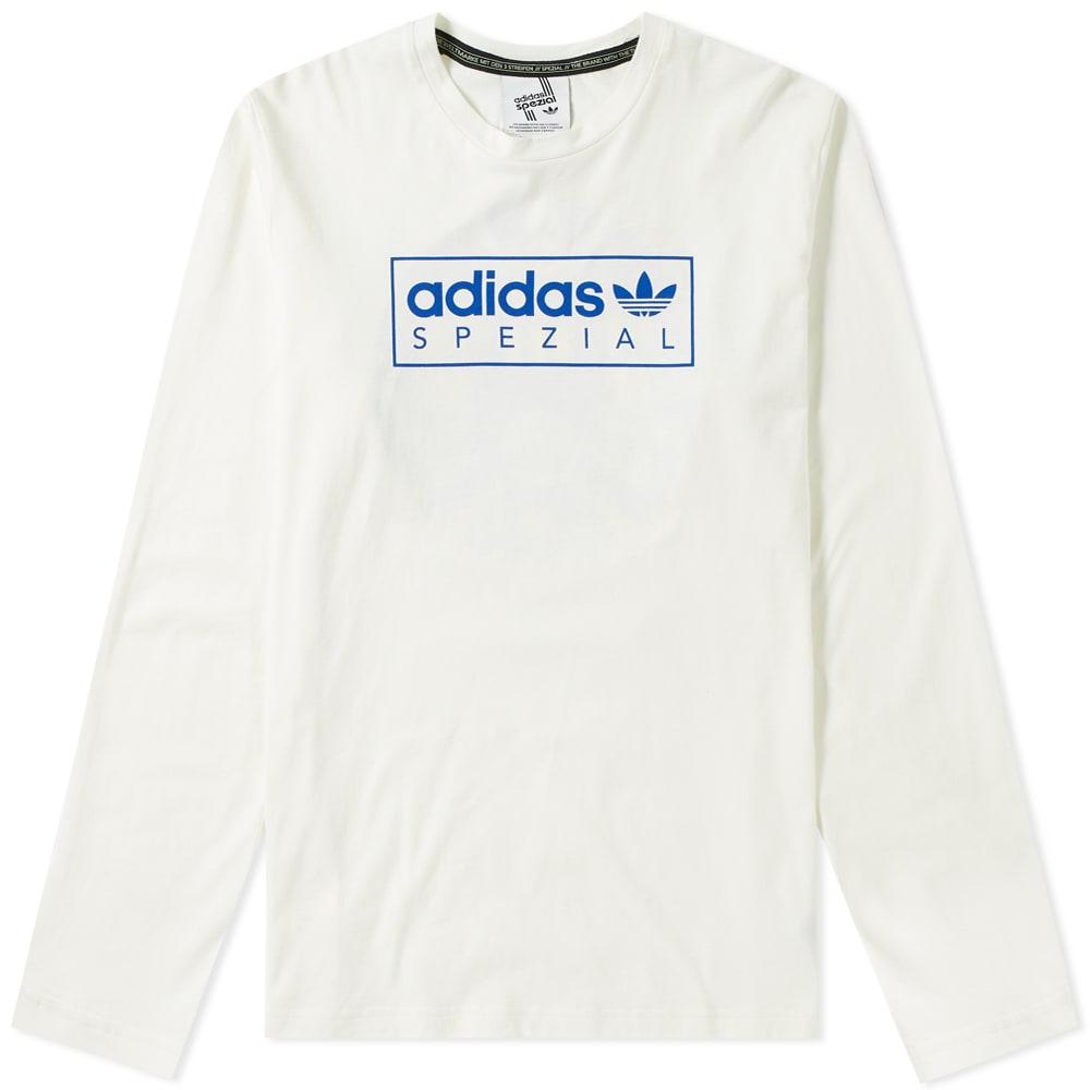 ADIDAS SPEZIAL Adidas Spzl Long Sleeve Graphics Tee in White