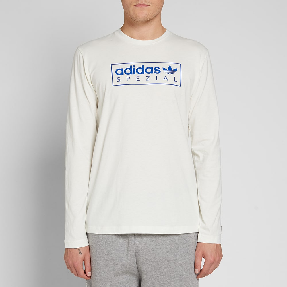 10fa3d981 Adidas SPZL Long Sleeve Graphics Tee Off White | END.