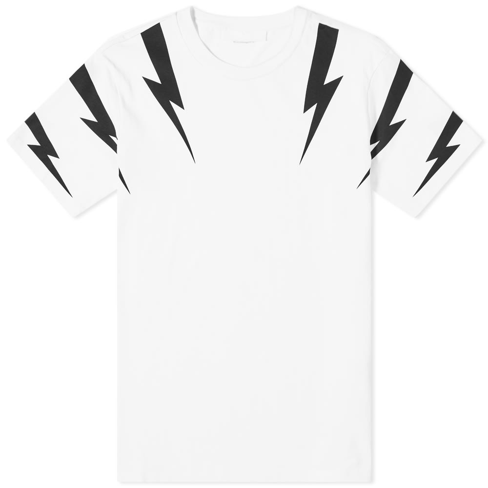 Neil Barrett Tiger Bolt Sleeve Print Tee