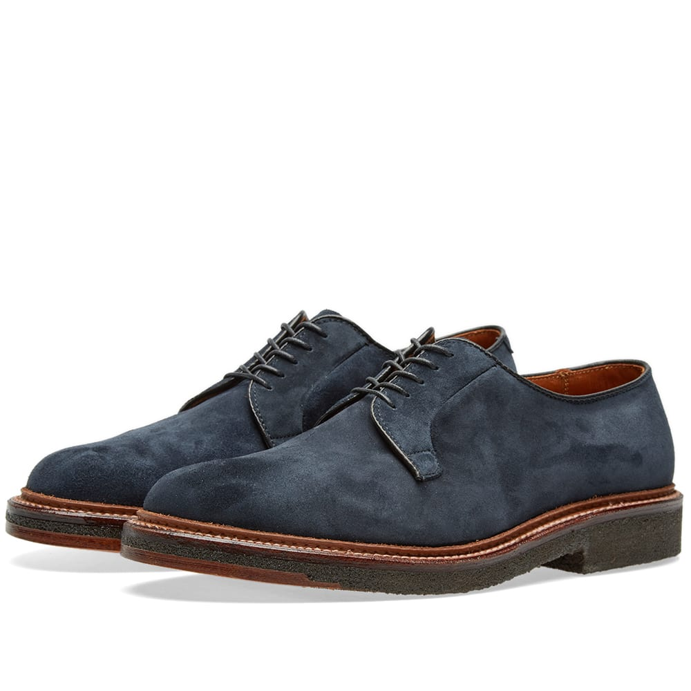 Alden Crepe Sole Plain Toe Blucher