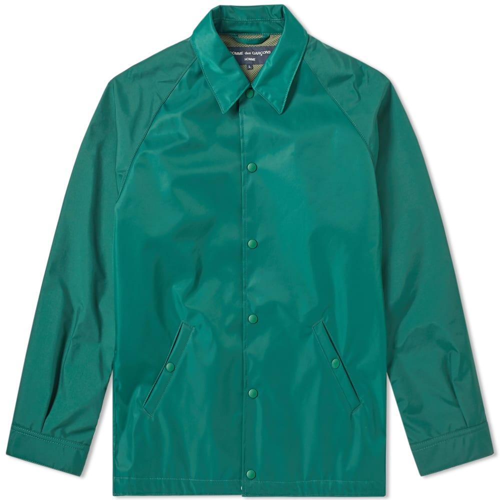 d02e425a464e Comme des Garcons Homme Back Logo Coach Jacket Green