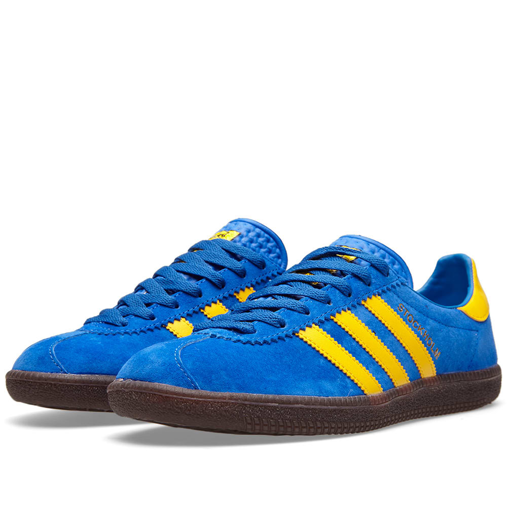 adidas Stockholm Blue Yellow Hers trainers