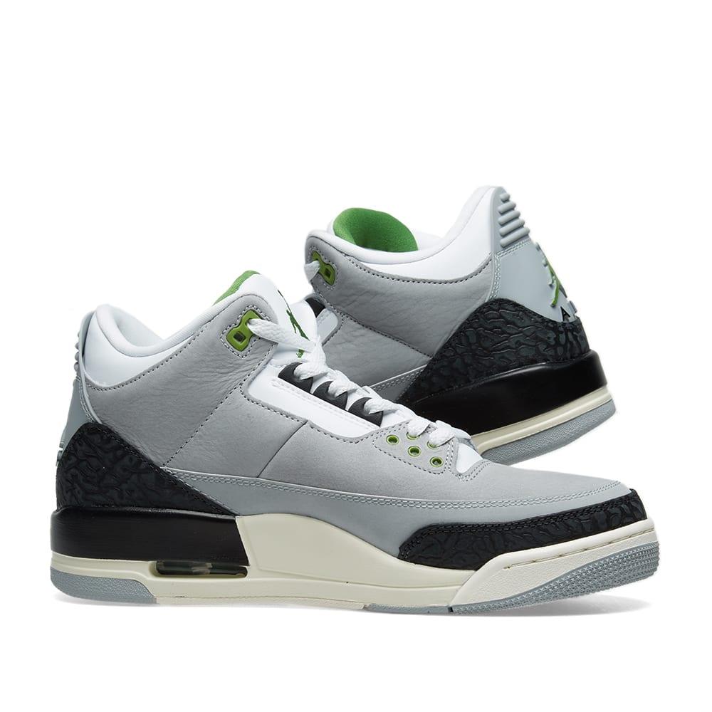 best website 00e0f 0d6e3 Air Jordan 3 Retro  MJ X Tinker . Smoke, Chlorophyll   Black