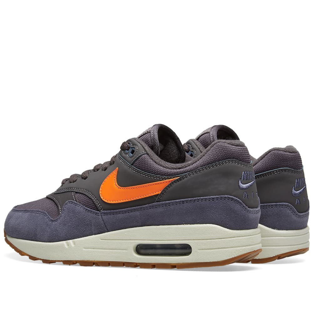 new arrival 6ab9e 532d9 Nike Air Max 1 Grey, Orange, Carbon   White   END.