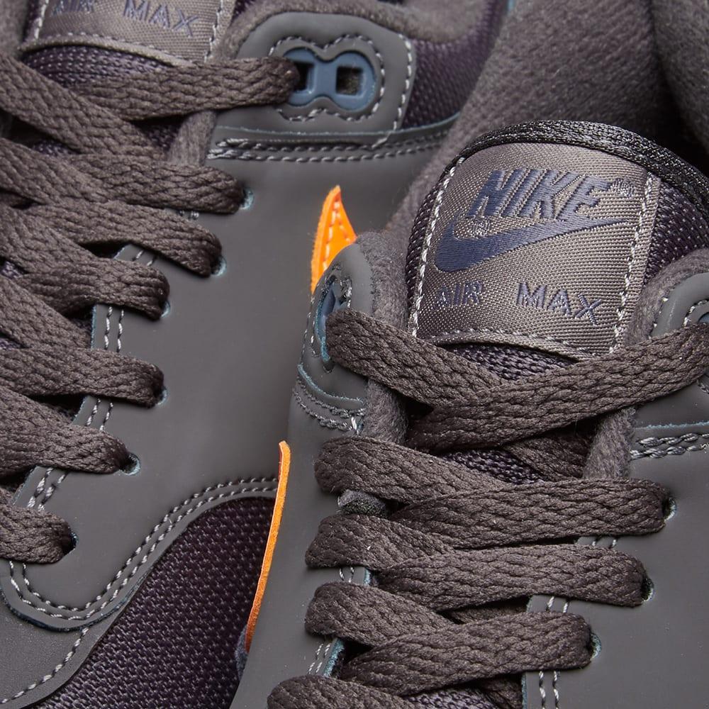 nike air max 1 orange grey carbon