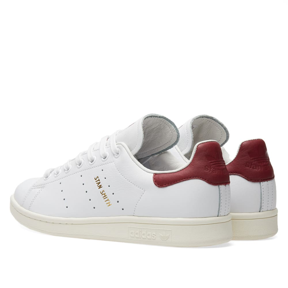 2017 Offizielle Adidas Stan Smith White Maroon Burgundy Red