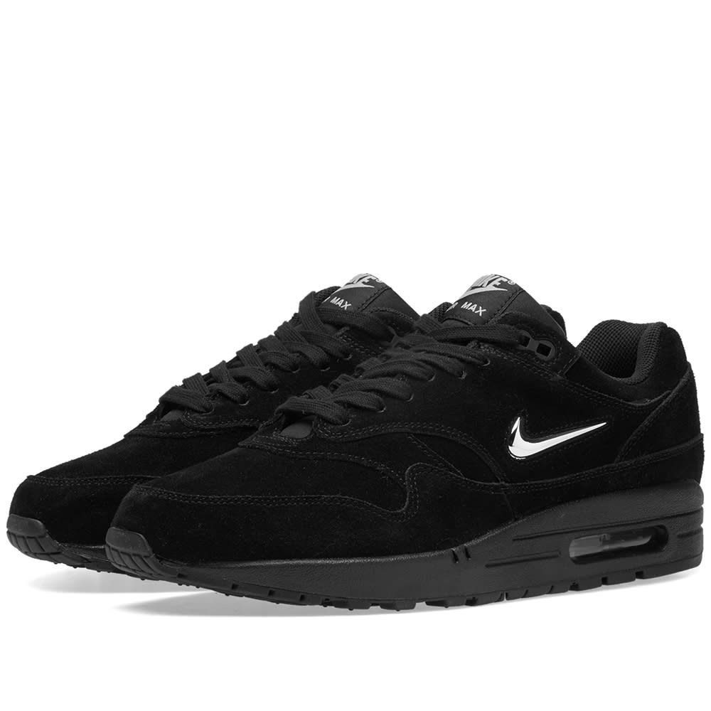 Nike Air Max 1 Premium SC Black Metallic Silver White