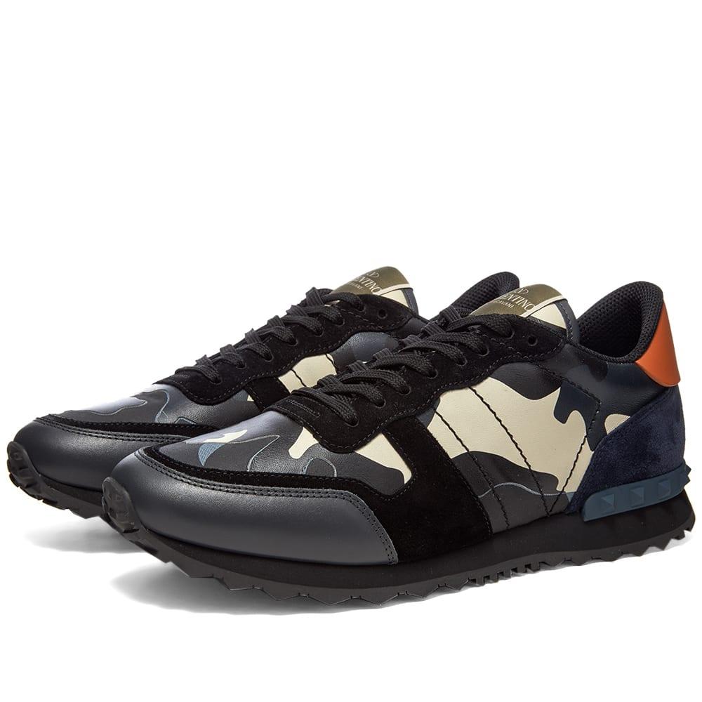 Valentino Rockrunner Camo Sneaker by Valentino