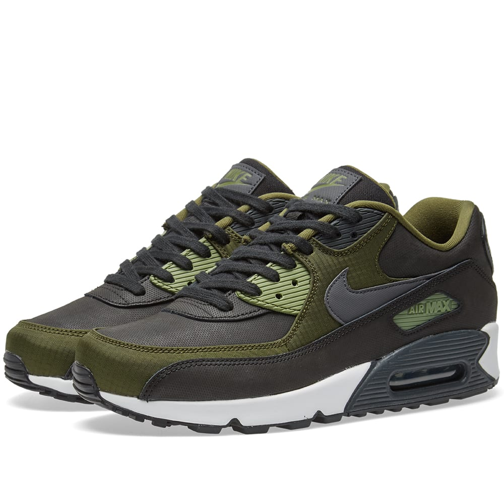 new style 47747 48fae Nike Air Max 90 Premium Black, Anthracite   Green   END.
