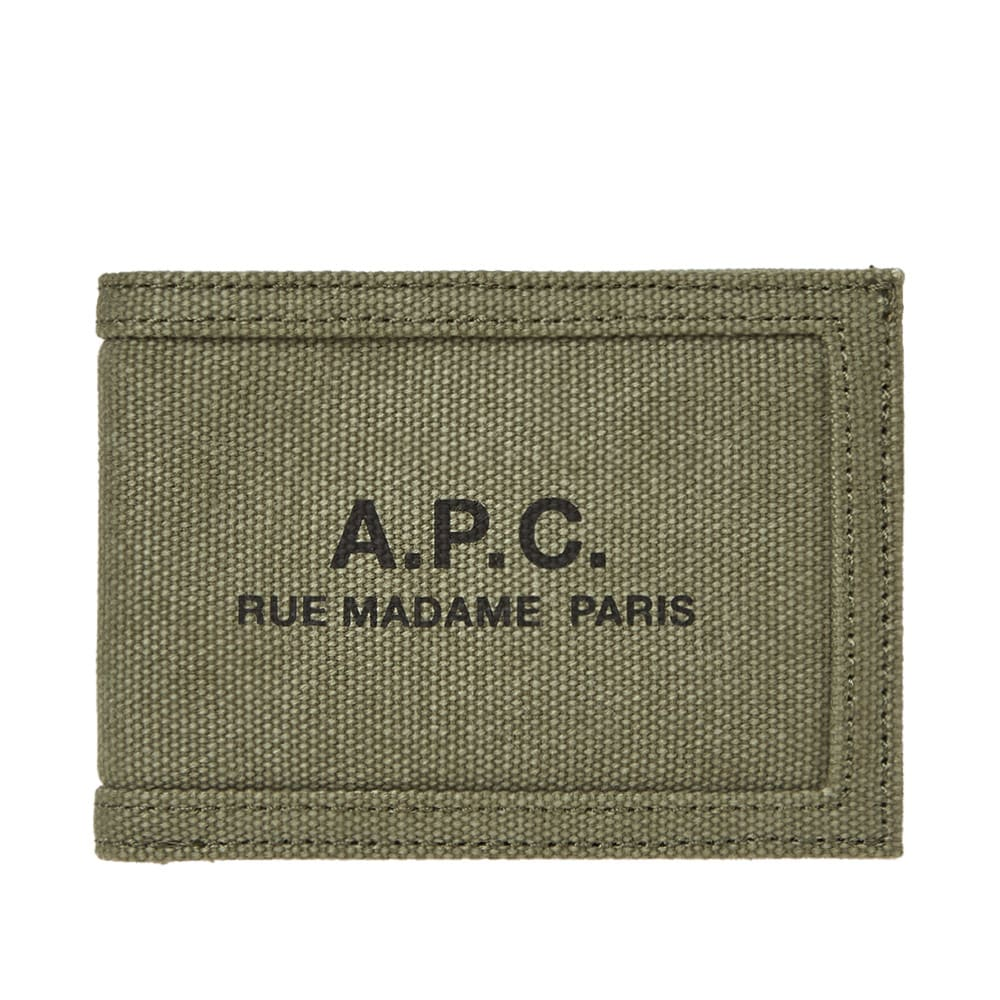 A.P.C. Recuperation Washed Canvas Logo Wallet