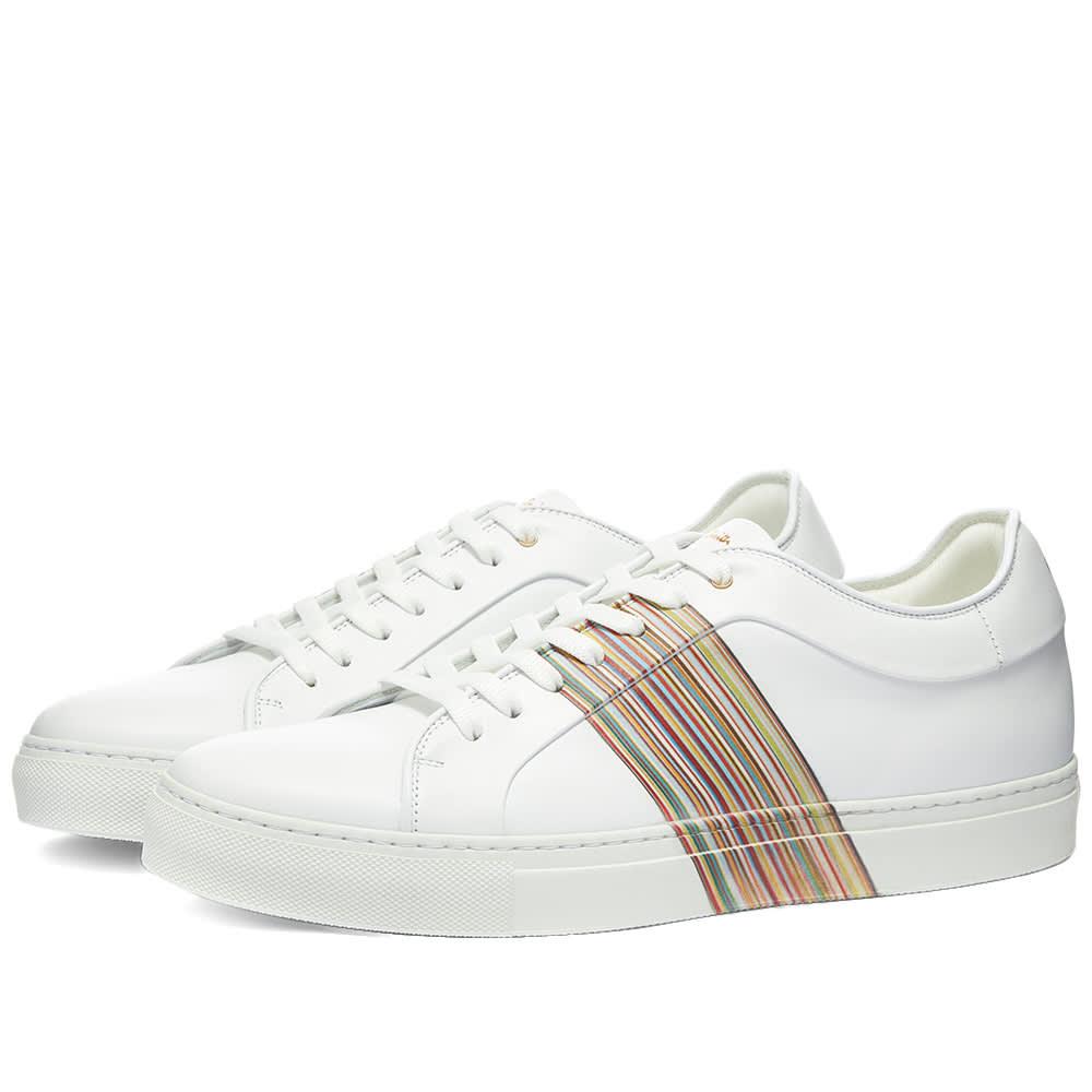 Paul Smith Basso Stripe Sneaker White