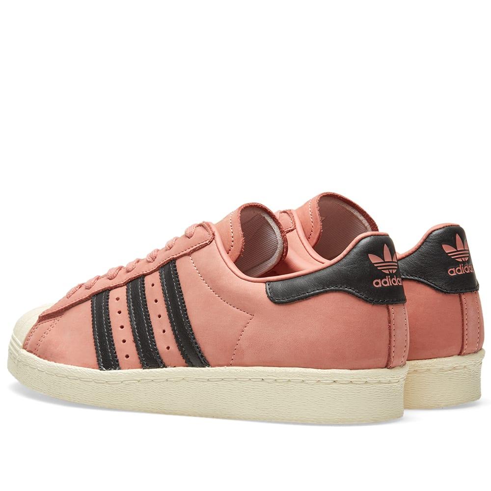 b1732bc000 Adidas Superstar 80s Decon W Ash Pink, Black & Cream White | END.