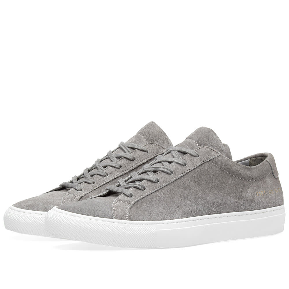 d0775fb649ff Common Projects Original Achilles Low Suede Dark Grey & White | END.