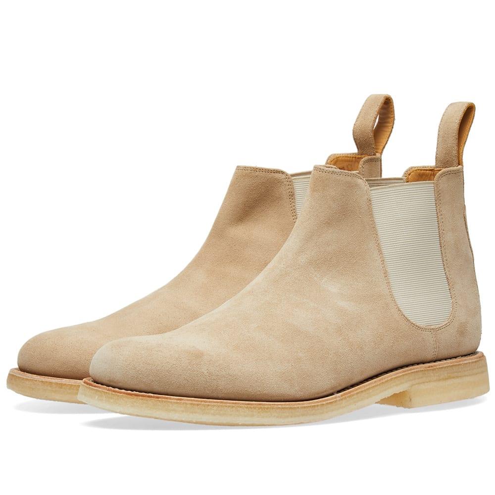 Beige Suede Hayden Chelsea Boots