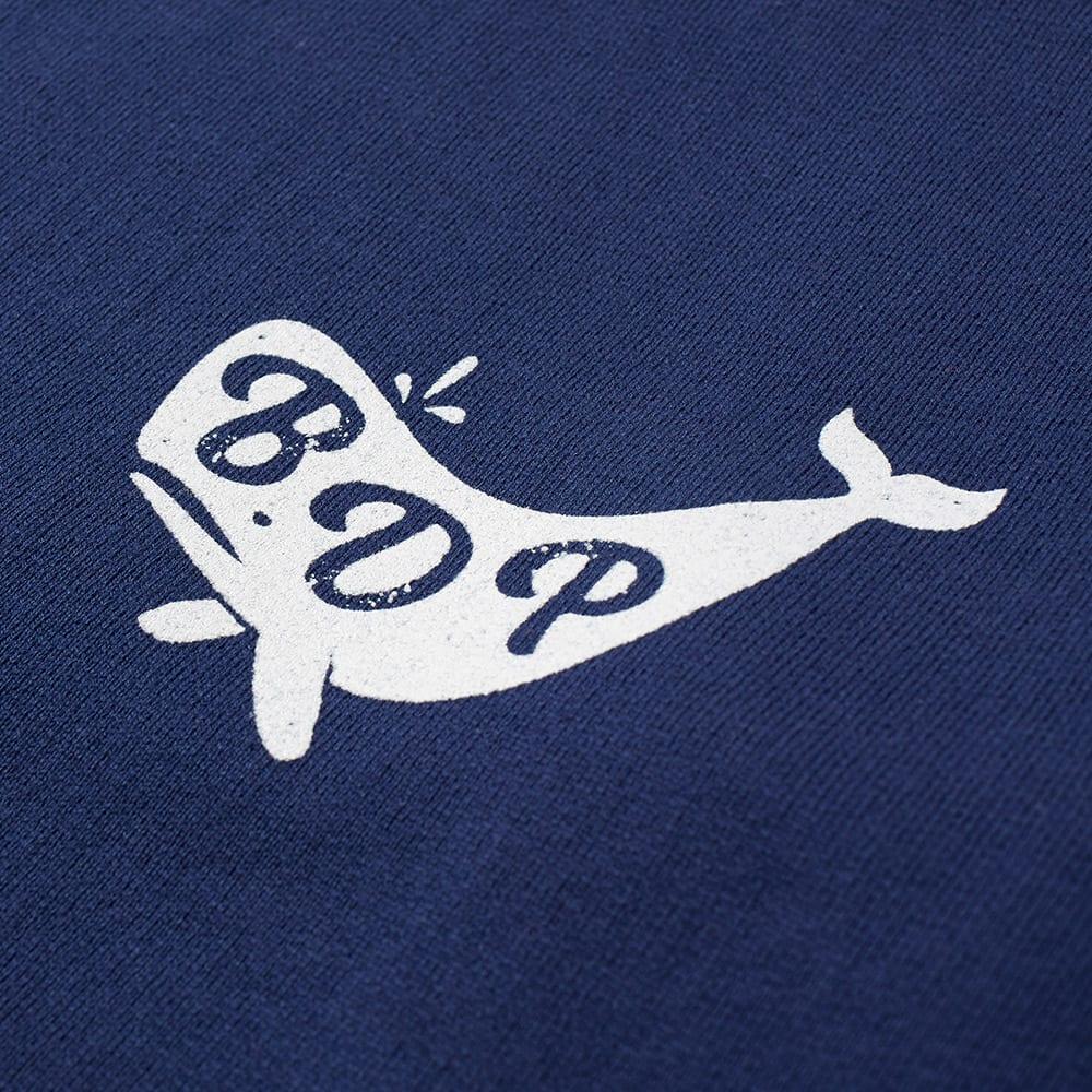 Bleu de paname whale logo sweat indigo for Whale emblem on shirt