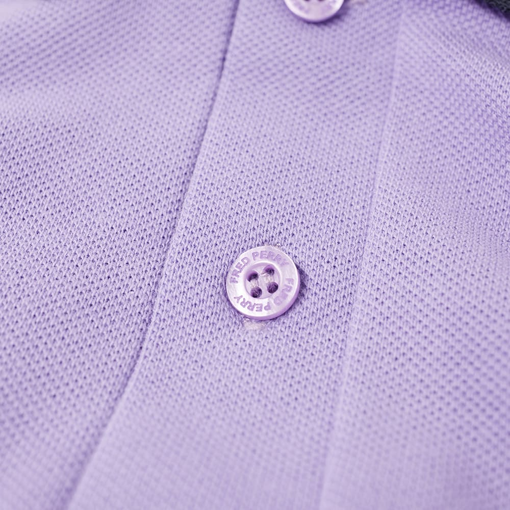 cabd489c7 Fred Perry Reissues Original Contrast Rib Polo Soft Lilac   Navy