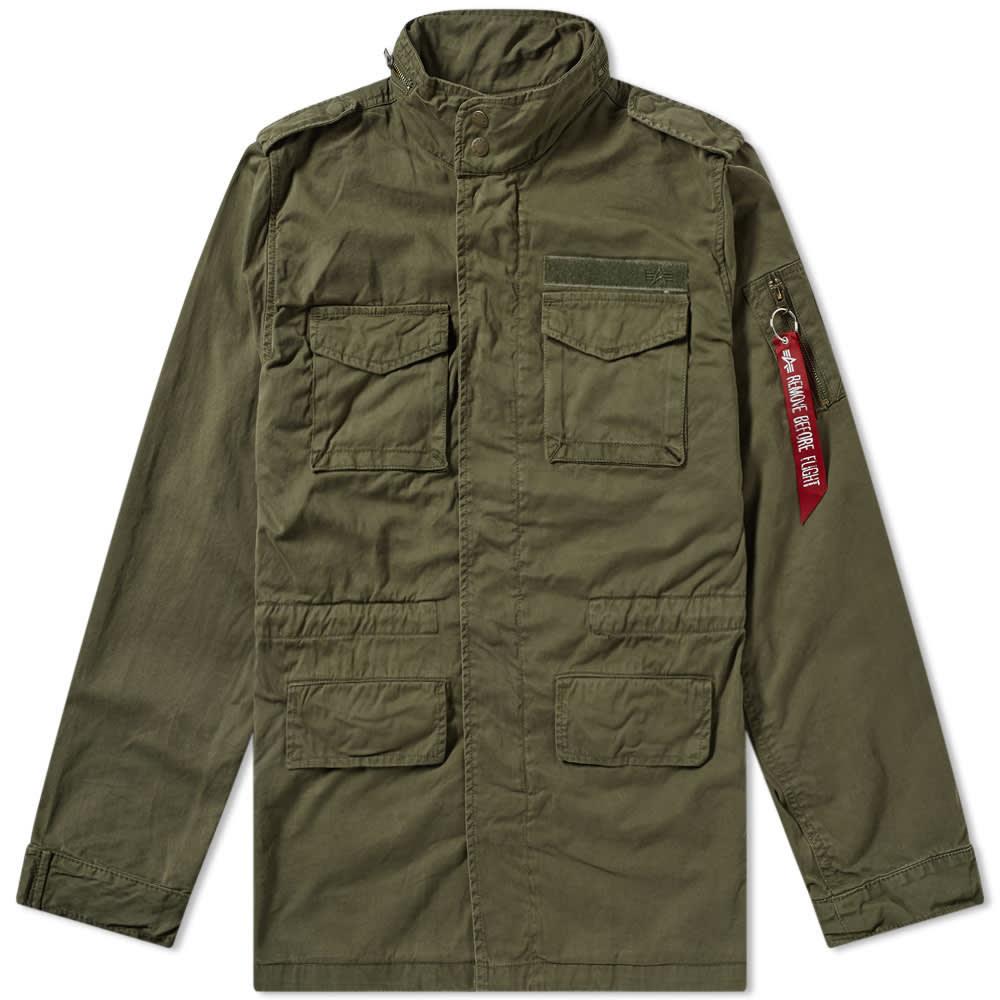 de9a7394c82b Alpha Industries Huntington M-65 Jacket Dark Olive   END.