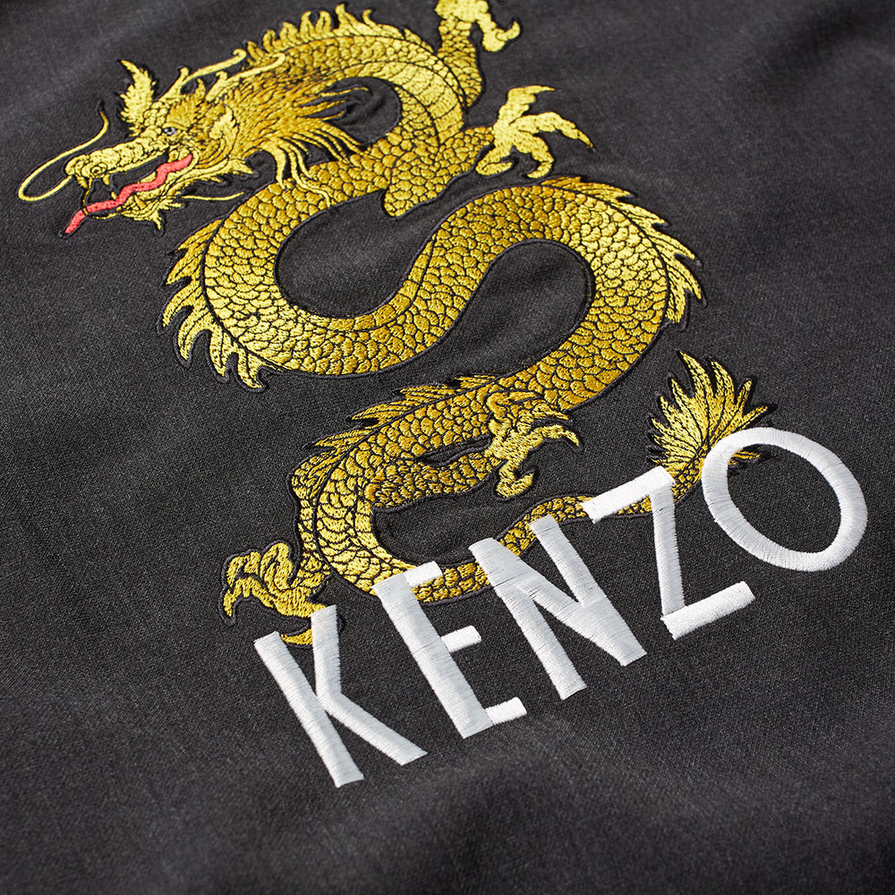 00bb452f Kenzo Woven Dragon Embroidered Crew Sweat Charcoal   END.