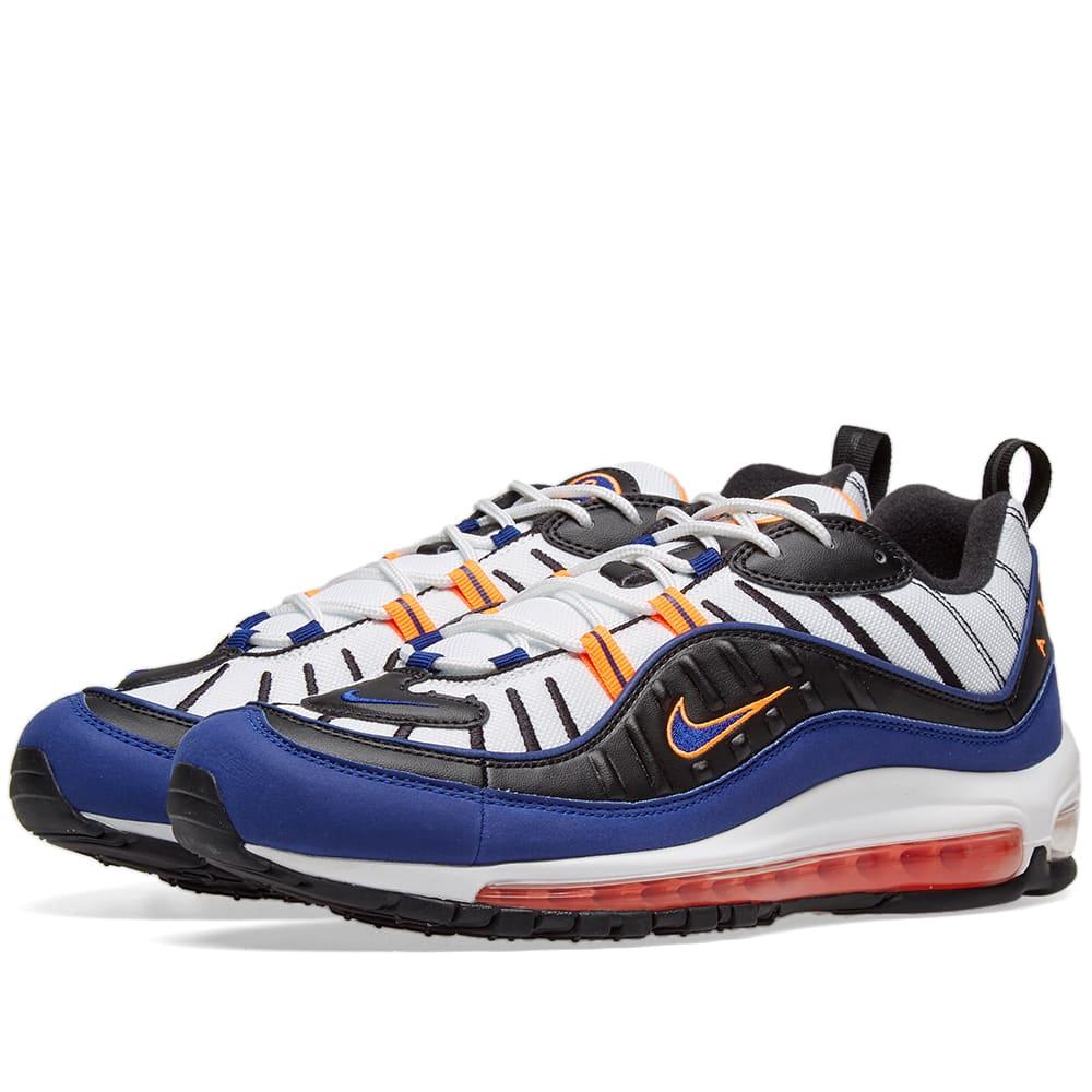 8fb3fbad Nike Air Max 98 White, Blue, Orange & Black | END.