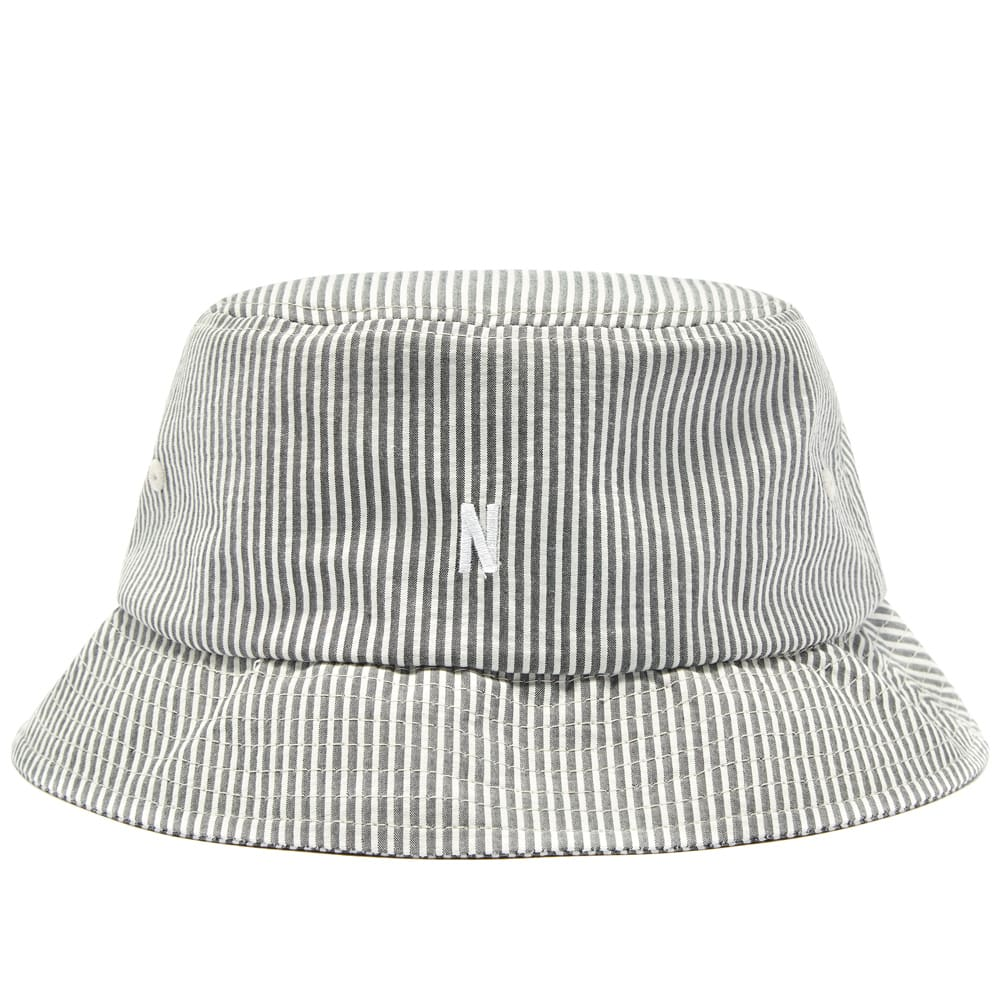 Norse Projects Seersucker Bucket Hat