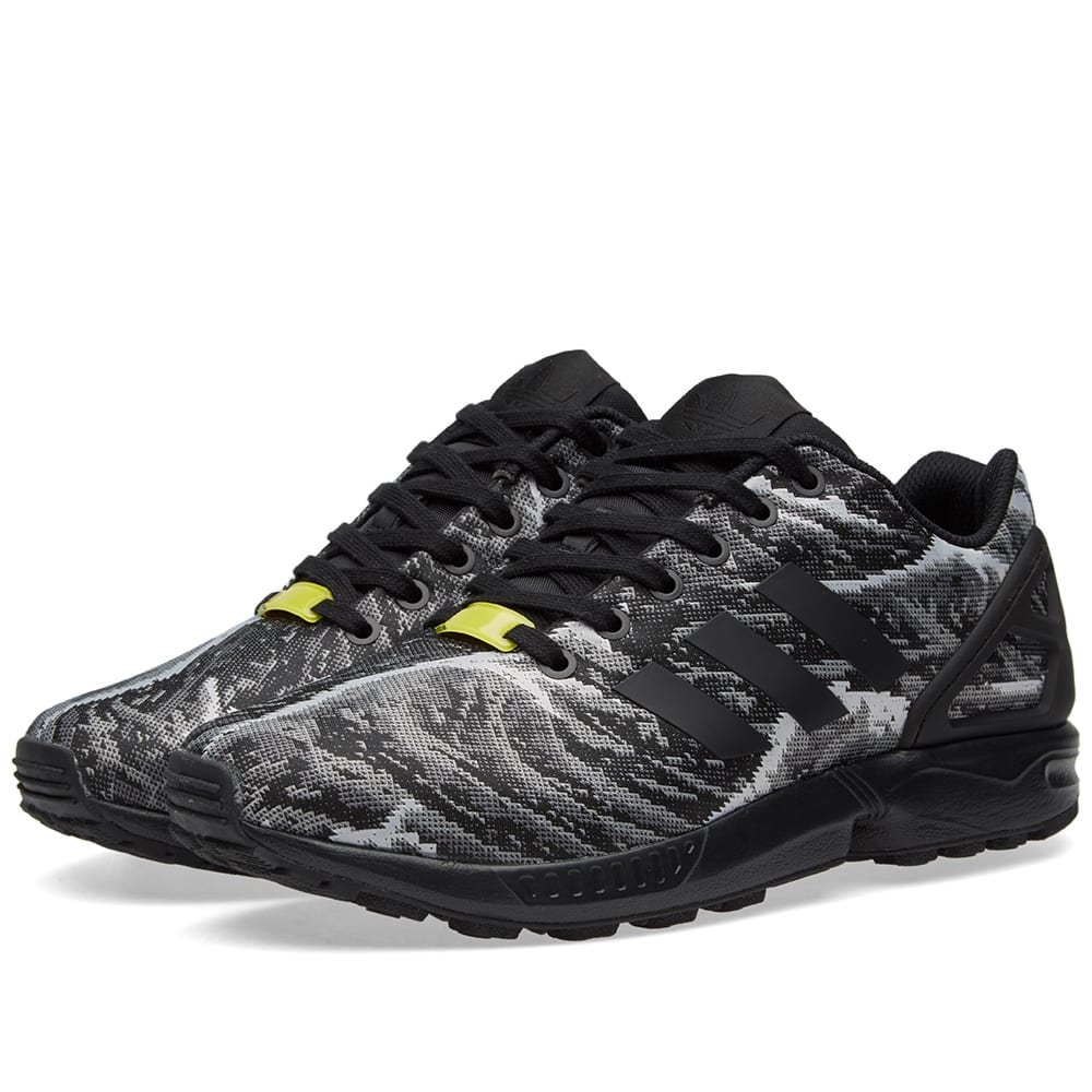 low priced 47e8c 4aef8 Adidas ZX Flux Weave Core Black   Bright Yellow   END.