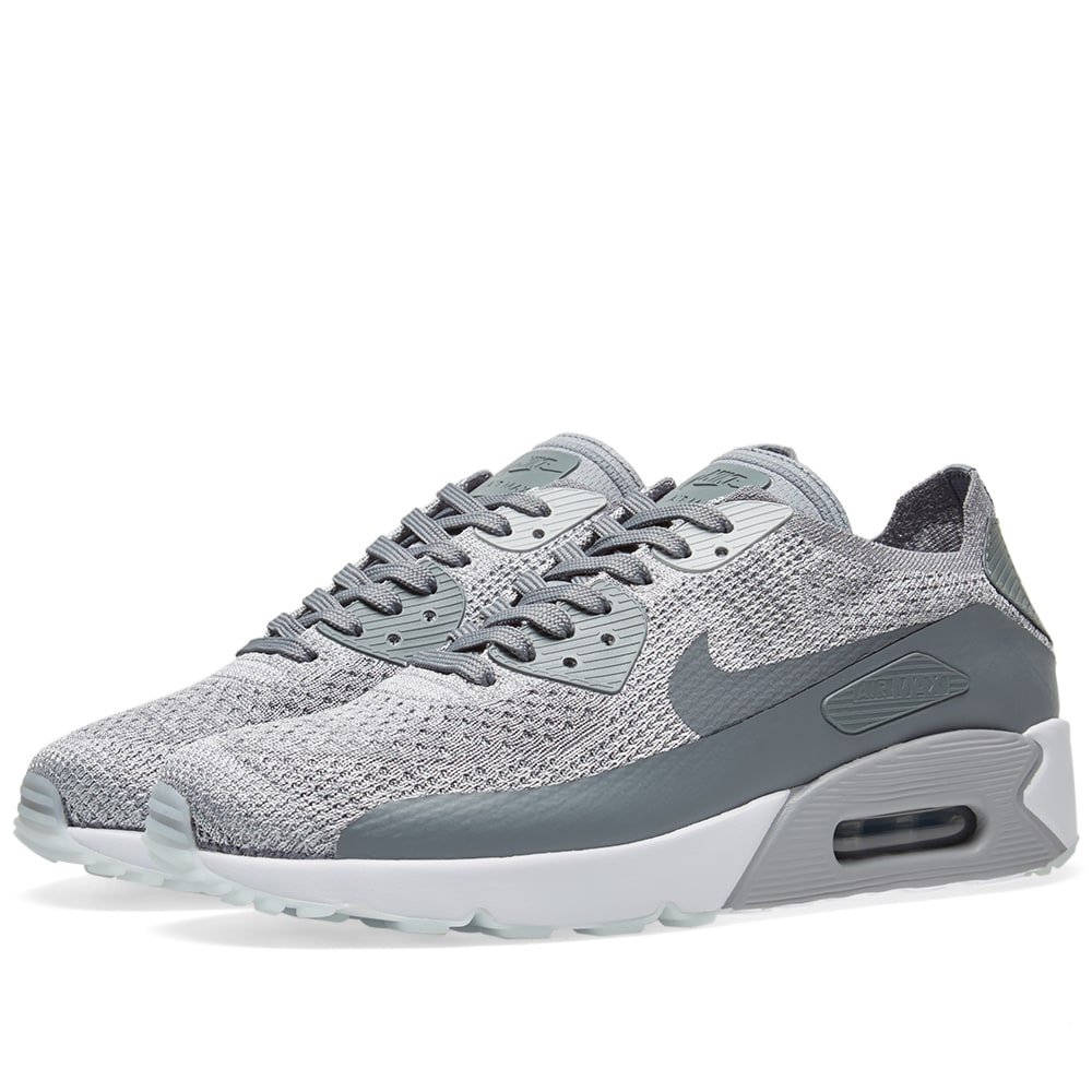 0275c15b6377 Nike Air Max 90 Ultra 2.0 Flyknit Pure Platinum   Cool Grey