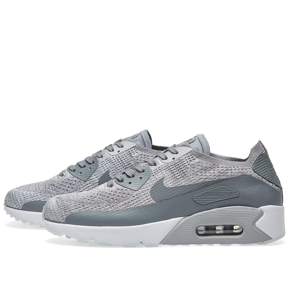 cf86bce95c9f Nike Air Max 90 Ultra 2.0 Flyknit Pure Platinum   Cool Grey