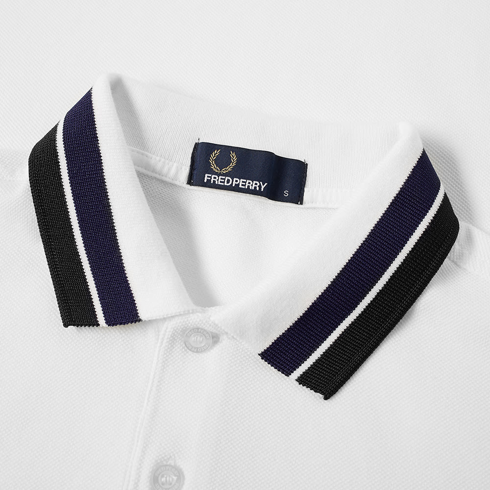 b5761a30d Fred Perry Bold Tipped Pique Polo Snow White